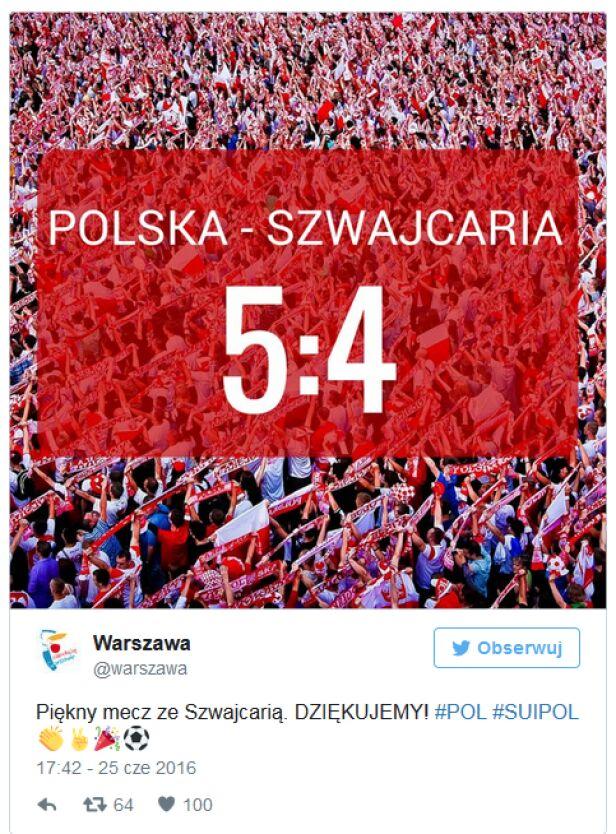 Warszawa gratuluje Twitter @warszawa