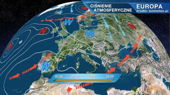 Wyż Oldenburgia wpływa na pogodę