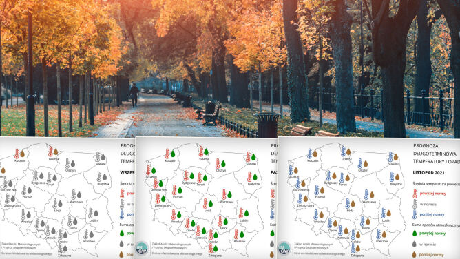 Pogoda na wrzesień, październik i listopad 2021. Jaka jest prognoza długoterminowa?