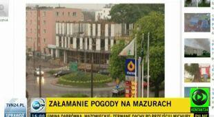 Wojciech Raczyński o burzach na Mazurach (TVN24)